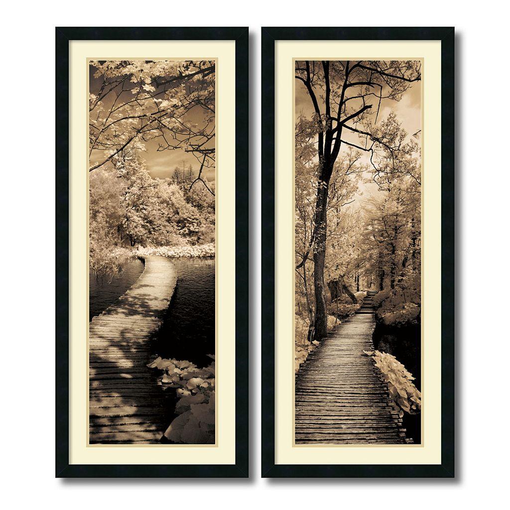 ''A Quiet Stroll'' Tree 2-piece Framed Wall Art Set