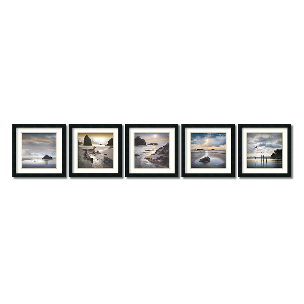 ''Vanscoy Coastal'' Beach 5-piece Framed Wall Art Set