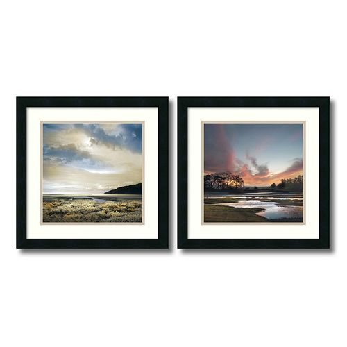 ''Beyond the Sun'' Beach 2-piece Framed Wall Art Set