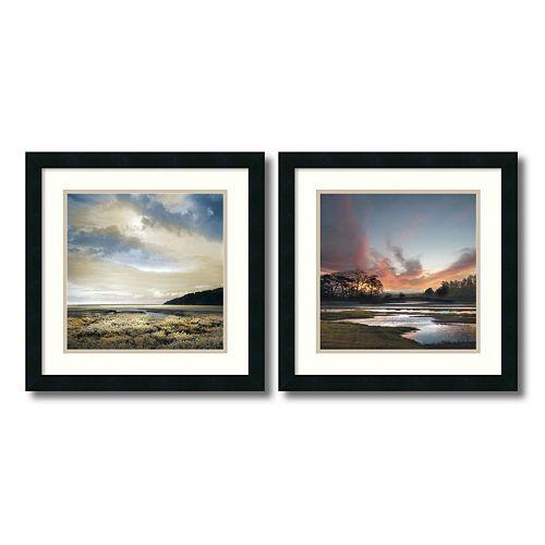 """""""Beyond the Sun"""" Beach 2-piece Framed Wall Art Set"""