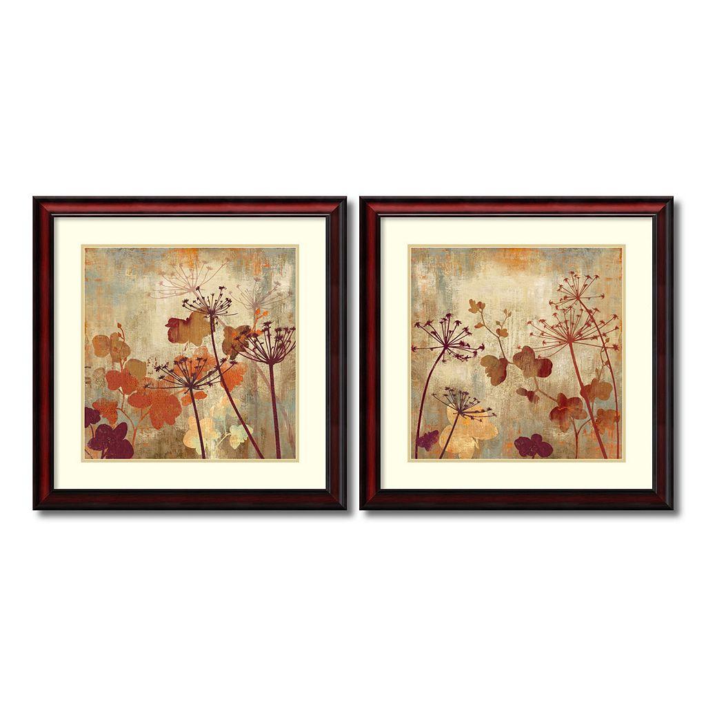 ''Wild Field'' Floral 2-piece Framed Wall Art Set