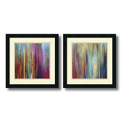 ''Sunset Falls'' Watercolor 2-piece Framed Wall Art Set