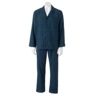Big & Tall Hanes Plaid Flannel Pajama Set