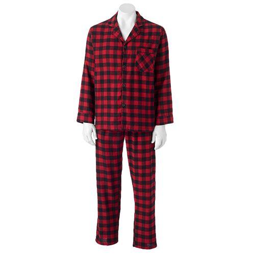 Big & Tall Hanes Plaid Flannel Pajama Set