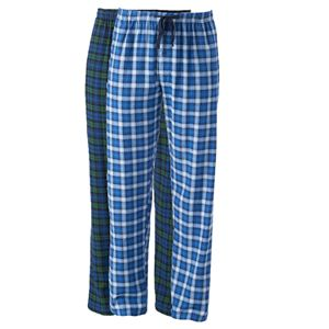 Big & Tall Hanes 2-pk. Plaid Flannel Sleep Pants