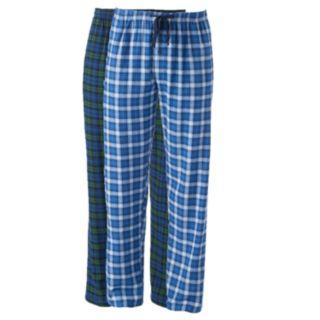 Big & Tall Hanes 2-pk. Plaid Flannel Lounge Pants
