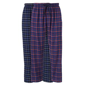 Big & Tall Hanes 2-pk. Plaid Flannel Sleep Pants