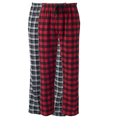 Big & Tall Hanes 2-pk. Plaid Flannel Lounge Pants