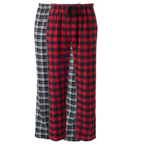Big & Tall Hanes® 2-pk. Plaid Flannel Pajama Pants