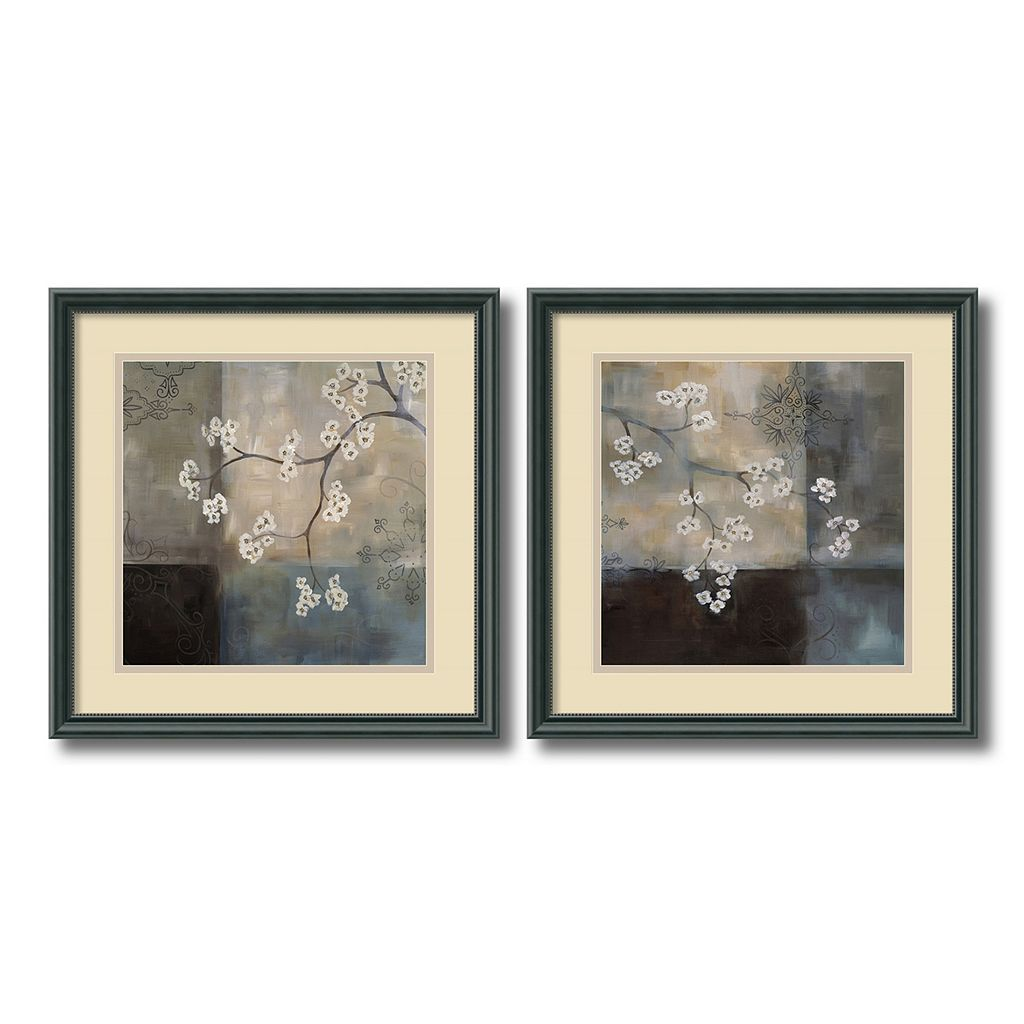 ''Spa Blossom'' Floral 2-piece Framed Wall Art Set