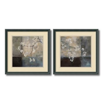 ''Spa Blossom'' Floral 2-piece Framed Wall Art Set