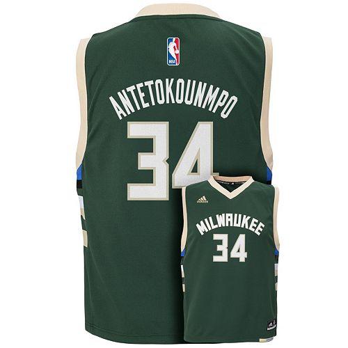 Boys 8-20 adidas Milwaukee Bucks Giannis Antetokounmpo NBA Replica Jersey 81f5e4433