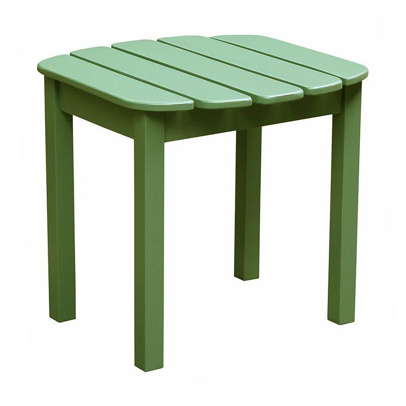 Slatted Wood Side Table