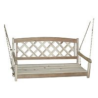 Crisscross Wood Swing Chair
