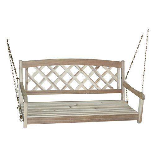Crisscross Wood Swing Chair