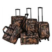 American Flyer Camo 5 pc Spinner Luggage Set