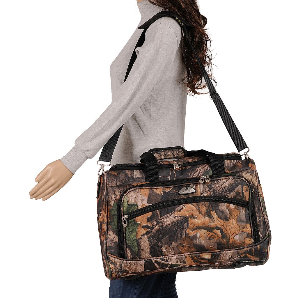 American Flyer Camo 5-Piece Spinner Luggage Set