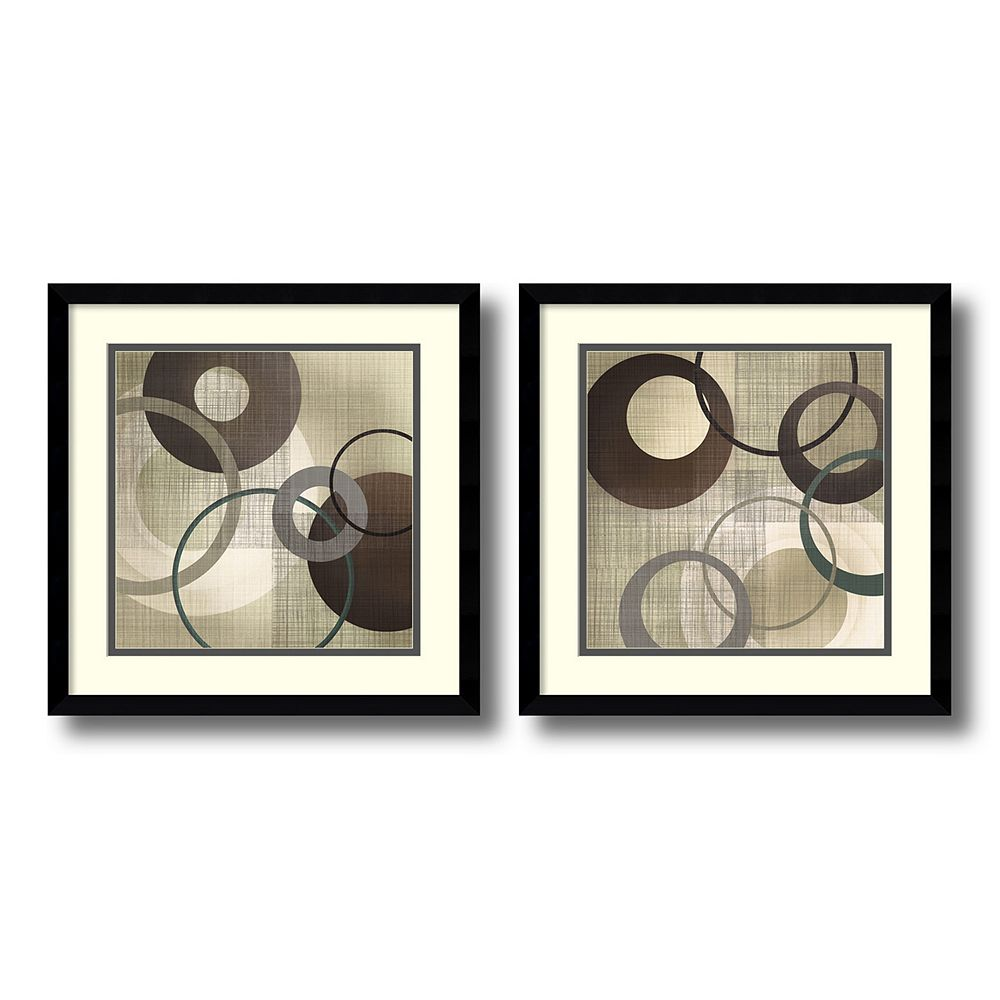 'Hoops & Loops'' Circle 2-piece Framed Wall Art Set