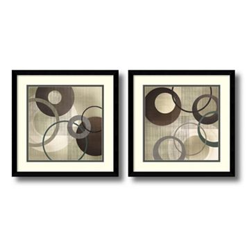 'Hoops & Loops'' Circle 2-piece Framed Wall Art Set