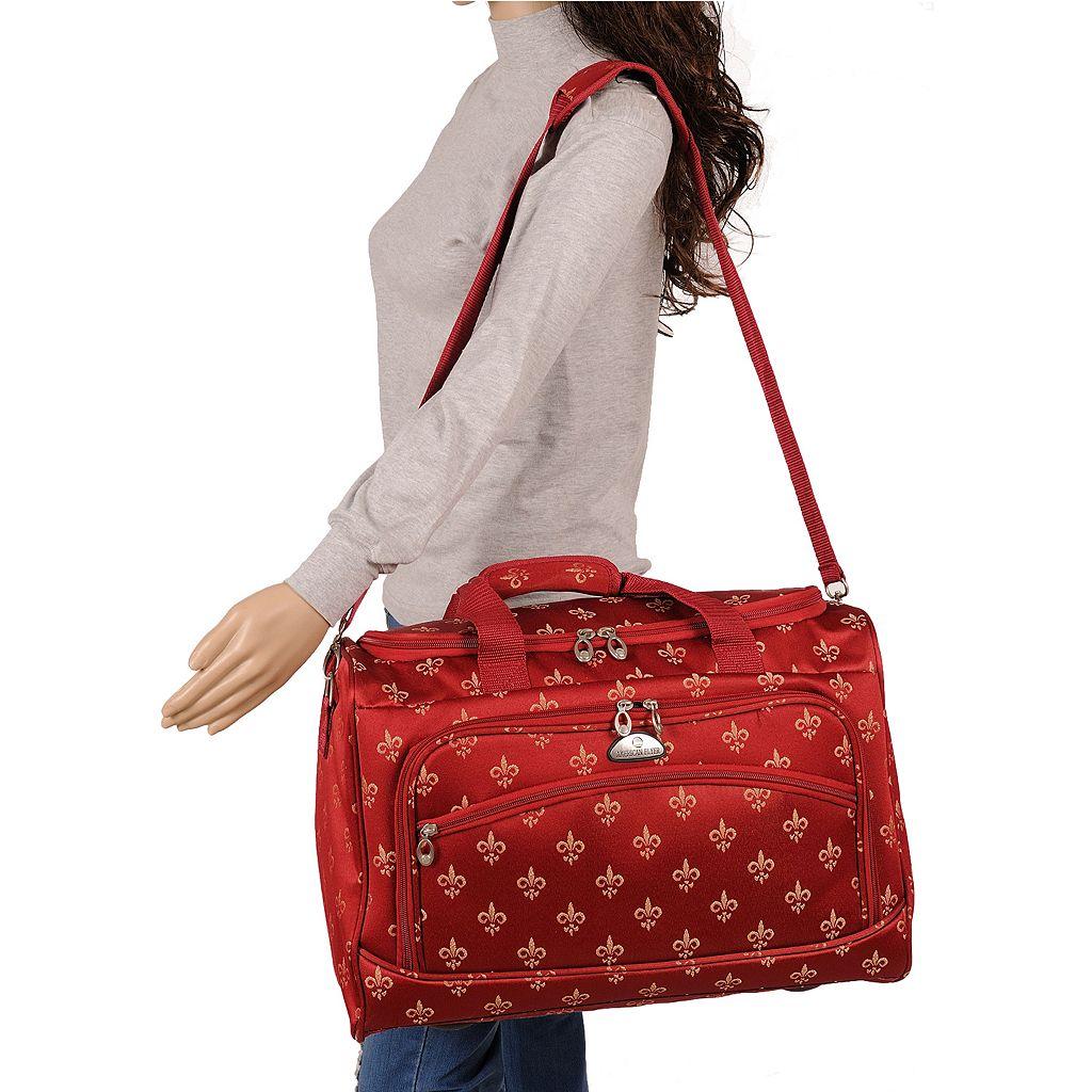 American Flyer Fleur-de-Lis 5-Piece Spinner Luggage Set