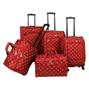 American Flyer Fleur-de-Lis 5 pc Spinner Luggage Set