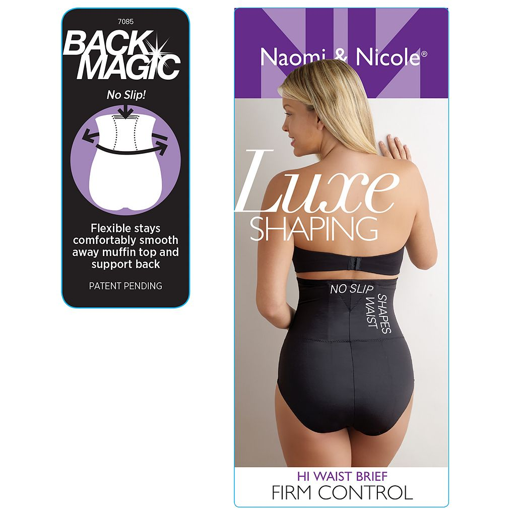 Naomi & Nicole Back Magic Shaping High-Waist Brief 7085