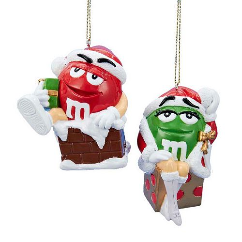 0 item(s), $0.00. Kurt Adler M&M 2-Piece Christmas Ornament Set