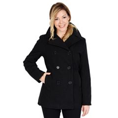 Women s Excelled Double-Breasted Faux-Wool Peacoat 99b4fe4680