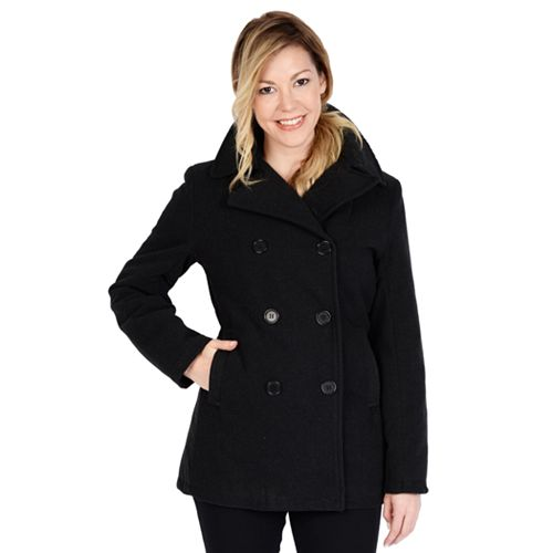 7d5e9f2be10f4 Women s Excelled Double-Breasted Faux-Wool Peacoat