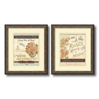 ''French Seed Packets'' Floral 2-piece Framed Wall Art Set