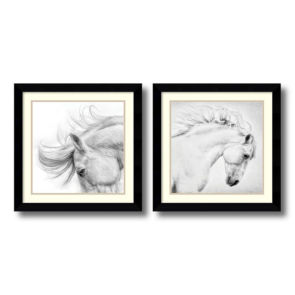 'Flair & Attitude'' Horse 2-piece Framed Wall Art Set