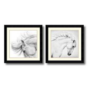 'Flair and Attitude'' Horse 2-piece Framed Wall Art Set