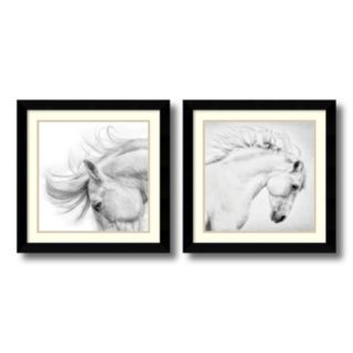 'Flair and Attitude'' Horse 2-piece Framed Wall Art Set