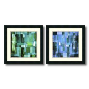 ''Modular Tiles'' 2-piece Framed Wall Art Set