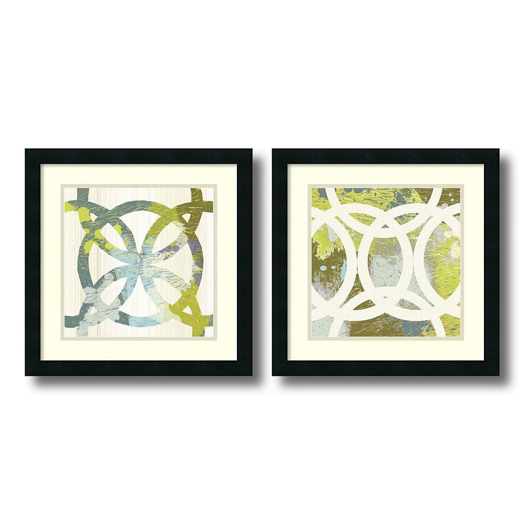 ''Circling'' 2-piece Framed Wall Art Set