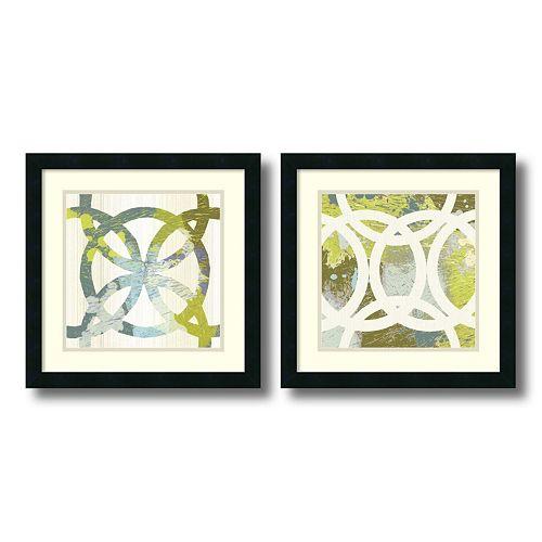 ''Circling'' 2-piece Framed Wall Art Set