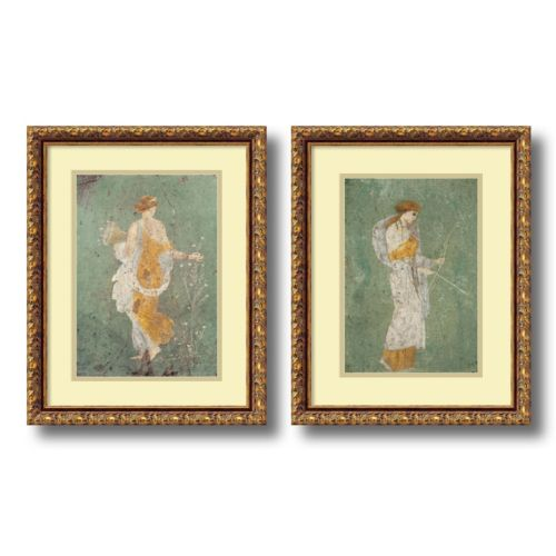 'Primavera and Diana'' 2-piece Framed Wall Art Set
