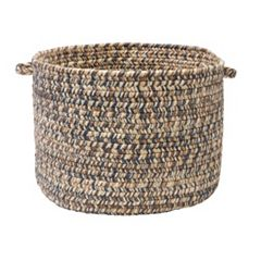 Colonial Mills Shaded Tweed 18' x 12' Indoor Outdoor Utility Basket