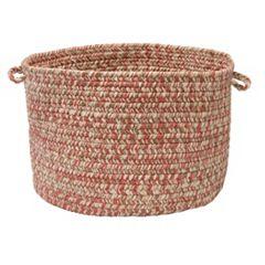 Colonial Mills Shaded Tweed 18' x 12' Indoor Outdoor Utility Basket