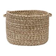 Colonial Mills Shaded Tweed 14' x 10' Indoor Outdoor Utility Basket