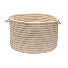 Colonial Mills Natural Wool Check 18' x 12' Utility Basket