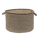 "Colonial Mills Natural Wool Check 18"" x 12"" Utility Basket"