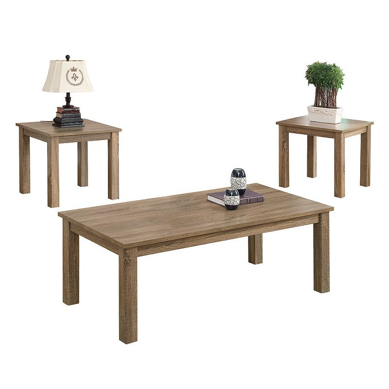 Coaster 3-piece Distressed Coffee & Side Table Set