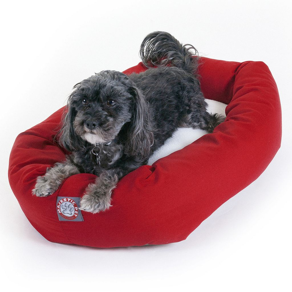 Majestic Pet Two Tone Bagel Pet Bed - 19'' x 24''