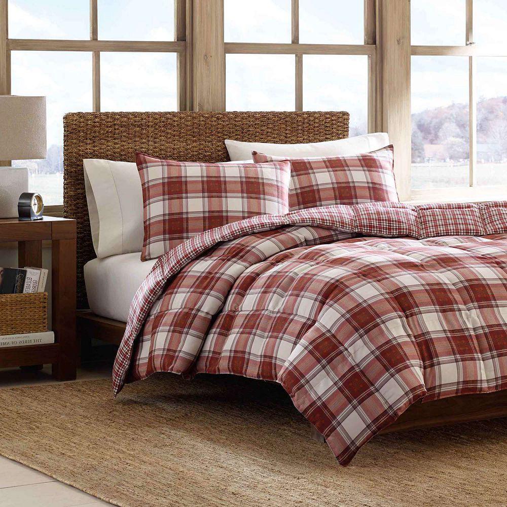 set ebay bafe bauer black plaid bed bedding comforter mountain white itm eddie