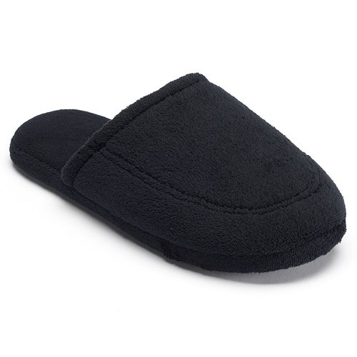 5c0a9be1c totes Men s Microterry Hoodback Clog Slippers