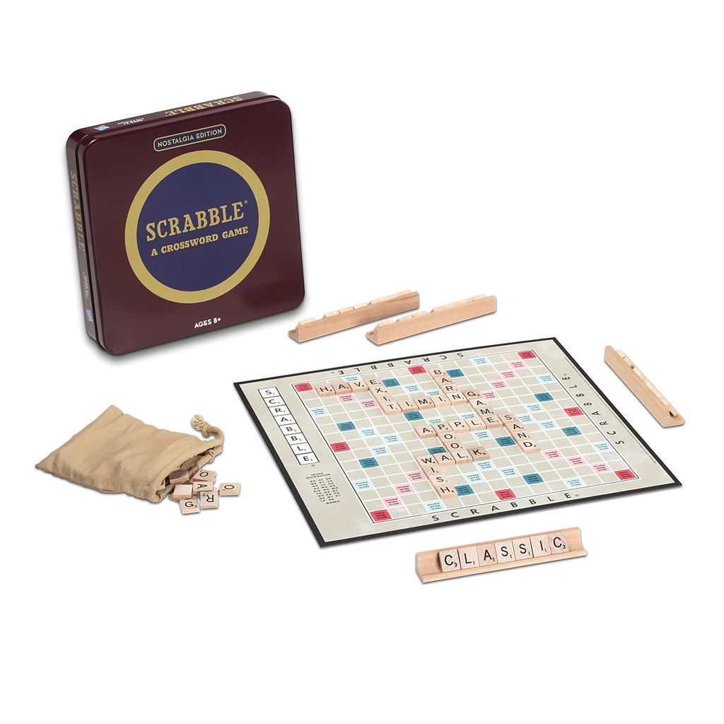 Scrabble Nostalgia Tin Board Game by Hasbro
