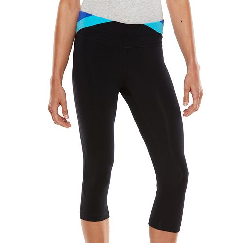 fc88358b25 Plus Size Tek Gear® Shapewear Colorblock Capri Leggings