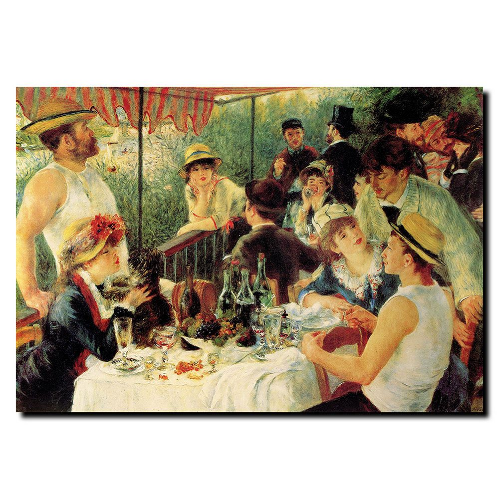 24'' x 32'' ''Luncheon of the Boating Party'' Canvas Wall Art by Pierre Renoir