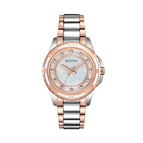 Bulova Women's Diamond Two Tone Stainless Steel Watch - 98P134